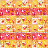 Concept painting  heart valentines background.  Royalty Free Stock Photography