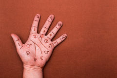 Concept of palmistry Royalty Free Stock Photos
