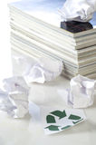 Concept of paper recycling Royalty Free Stock Photo