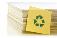 Concept of paper recycling. On white background Stock Image