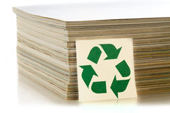 Concept of paper recycling. On white background Royalty Free Stock Images