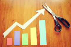 Concept of parameters growth Stock Images
