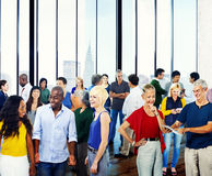 Concept parlant d'interaction de diversité de la Communauté de personnes de groupe photo stock
