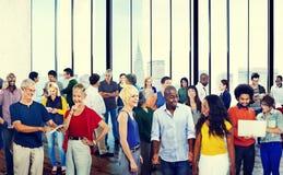 Concept parlant d'interaction de diversité de la Communauté de personnes de groupe Photo libre de droits