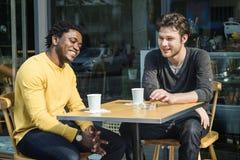 Concept partageant occasionnel fonctionnant de café de créativité d'affaires Photo libre de droits