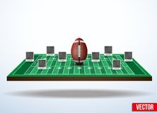 Concept participants playing american football. Royalty Free Stock Images