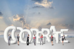 Concept of partner Stock Photo
