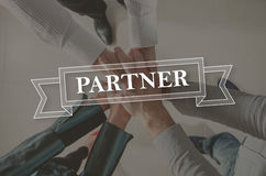 Concept of partner Stock Image