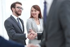 Concept of partnership.business handshake royalty free stock images