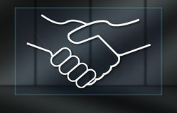 Concept of partnership. Partnership concept on dark background Royalty Free Stock Photography