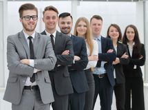 Portrait of a professional team of specialists. Concept of partnership. group of professional specialists Royalty Free Stock Image
