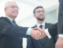 Concept of partnership - handshake  business partners Stock Photos