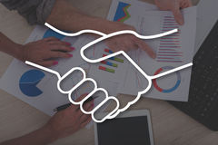 Concept of partnership. Partnership concept illustrated by a picture on background Royalty Free Stock Photos