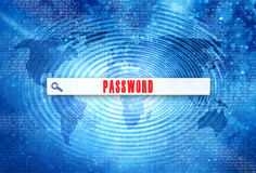 Concept password search bar background Royalty Free Stock Photos