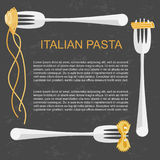 Concept for pasta label Royalty Free Stock Photography