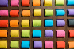 Concept pattern colorful tissue toilet paper on background Royalty Free Stock Photos