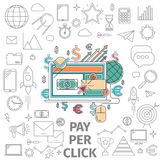 Concept pay per click Royalty Free Stock Image