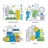 Concept of payment methods, shopping, money, mobile marketing. Stock Image