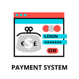 Concept of payment system icon. Modern flat editable line design vector illustration, concept of payment system icon, for graphic and web design Stock Images