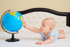 The concept of peace, protection, childhood. Baby boy,child, too Royalty Free Stock Image