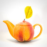 Concept peach teapot Royalty Free Stock Image