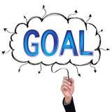 Concept  pencil idea hand isolate write blue goal business. Concept  pencil idea hand isolate write blue goal business illustration vector Stock Images