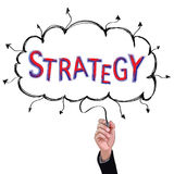 Concept  pencil idea hand isolate write blue and red strategy. Concept  pencil idea hand isolate write blue and red strategy business illustration vector Stock Photo