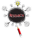 Concept pencil idea isolate write red research education. Stock Image