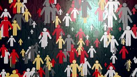 Concept with People figures in multicolor stock video footage