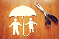 Concept of people insurance Stock Images