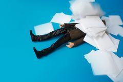 Concept, people swamped with paperwork Royalty Free Stock Photo