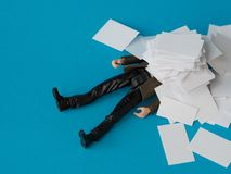 Concept, people swamped with paperwork Royalty Free Stock Photos