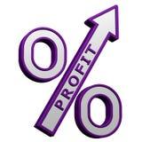 Concept: percenten de groei het 3d teruggeven Stock Foto