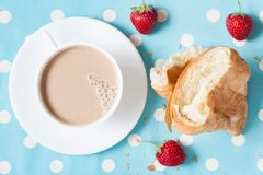 Concept perfect lunch or breakfast. A cup coffee Royalty Free Stock Images
