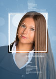 Concept of person identification. Beautiful girl Royalty Free Stock Photography