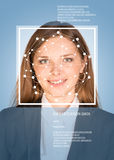 Concept of person identification. Girl face with Stock Photography