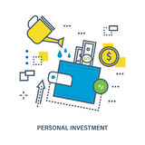 Concept of personal investment and  growth. Concept of personal investment and investment growth. Flat Vector illustration. Can be used for banner, business Stock Photos