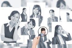 Concept personeel stock foto