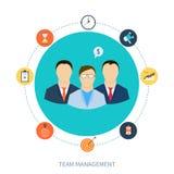 Concept personeel en groepswerk Stock Foto