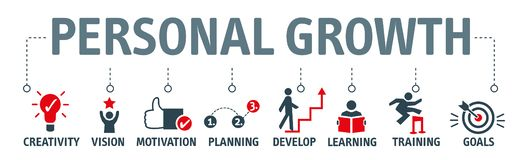 Concept personnel d'illustration de vecteur de croissance et développement illustration libre de droits