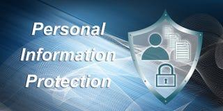 Concept persoonlijke informatiebescherming Stock Foto's