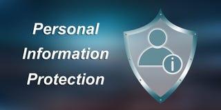 Concept persoonlijke informatiebescherming Stock Fotografie