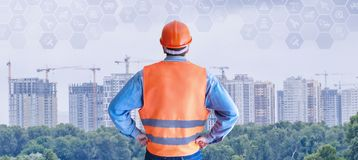 The concept is the perspective of building industry development royalty free stock images