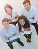 Successful business team looking up. Concept of perspective. professional business team Royalty Free Stock Images