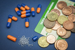 Concept of pharmaceutical copayment Stock Photo