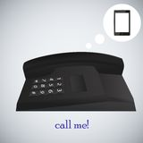Concept phone for your design. vector illustration Stock Photo