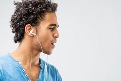 Concept photo of enjoying music Stock Image