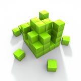 Concept photo of green building blocks Stock Photos