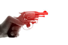 Concept photo of a gun in hand Stock Photography