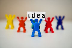 Concept photo of man with idea Stock Photography